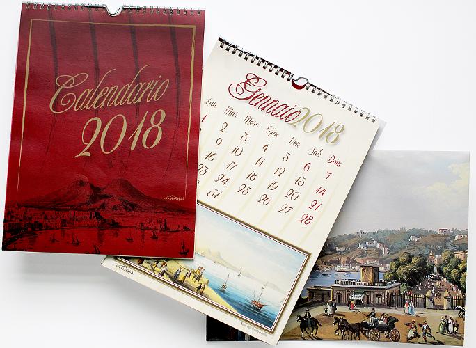 calendario da parete incantanapoli 2018